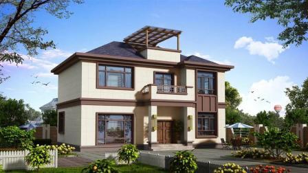 12.68×8.9米农村二层小别墅, 28万就能建! 再也不用羡慕别人家!