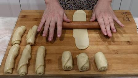 想吃面包不用买, 2种面团包一起, 一擀一卷, 千层酥脆, 香酥掉渣