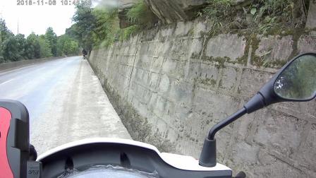 踏板摩托车长途旅游骑行实拍记录 四寸土