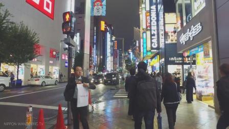 夜晚漫步日本东京新宿