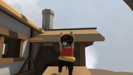 儿时的玩具跷跷板, 我和饺子配合上屋顶, 过关很轻松!