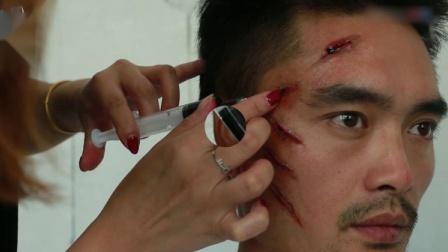 3这种刀疤伤实在是太逼真了,一般人画不出来,血浆用的很到位
