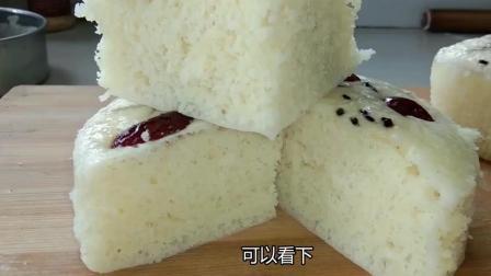 蒸发糕按这个比例, 做出的发糕不粘牙, 不塌陷, 蓬松喧软