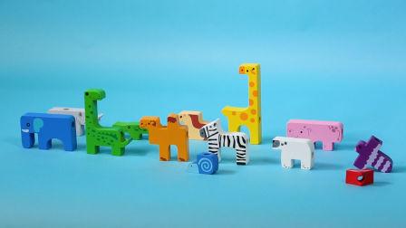 让宝宝独立玩耍的动物串绳积木