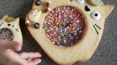 """制作可爱的龙猫""""摇摇乐""""饼干, 真的要好好学一下"""