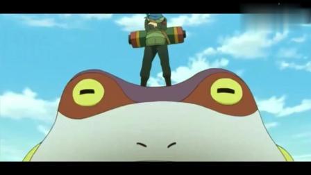 火影忍者-木叶丸果然选择了妙木山通灵术, 这个蛤蟆个头也不小