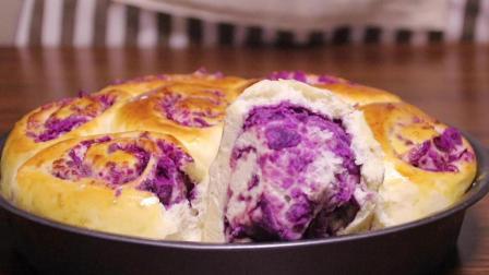 爱吃面包的收藏了, 小伙教您做紫薯小餐包, 营养又健康, 柔软又香甜