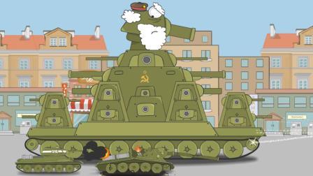 坦克世界动画: 这个小坦克炮控仿佛开玩笑! 这是击中了队友吗?