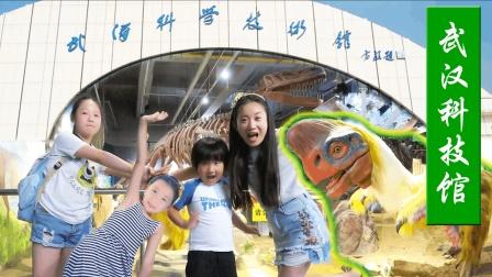 看恐龙拼化石武汉科技馆参观宇宙飞船开汽车