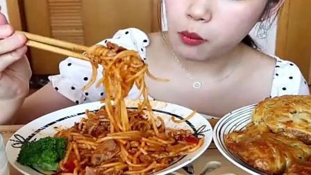 番茄牛肉意面 芝士咖喱鸡肉派 牛奶芋圆!