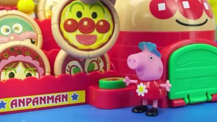 小猪佩奇玩具, 开着跑车去吃披萨, 太可爱了!