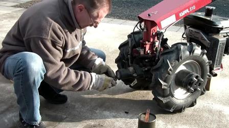 把清雪铲车实时转换成两轮手扶拖拉机