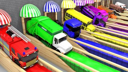 工程车小汽车们从迷你车库出发