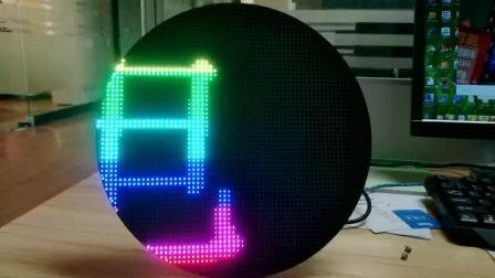 金合光电LED显示屏展示——圆形LED模组