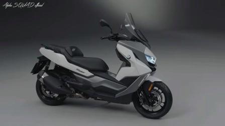2019款BMW C400 GT踏板摩托车近距离拍摄, 提前了解一下准备好钱