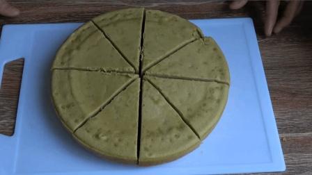 想吃蛋糕不用再买了, 宝妈用电饭锅就能做出蓬松柔软的抹茶味蛋糕