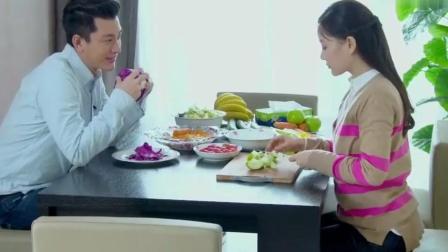 《产科男医生》李小璐做水果沙拉 而贾乃亮却吃生芹菜 好羡慕啊!