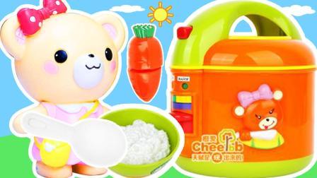 咖啡贩卖机小雪电饭煲套装过家家玩具