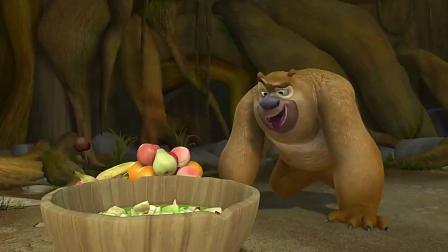 熊大熊二自制果汁, 怎么看起来有点像果酱呢?