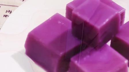 3个步骤教你做紫薯凉糕, 清甜可口, 端午吃最合适!