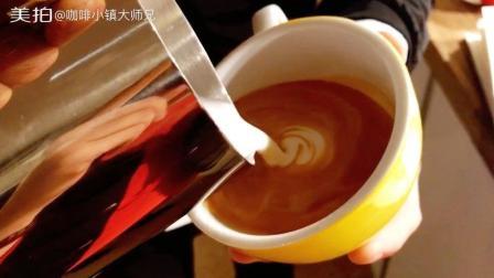 拿铁咖啡拉花 组合图, 天鹅麦穗