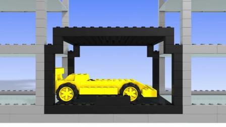 宝宝不同颜色的小汽车, 在立体式停车场找到他们的车位