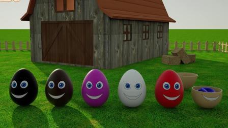 彩色泥膏给大惊喜蛋加彩色泥条晃一晃出来许多彩色小惊喜蛋冲天动画片