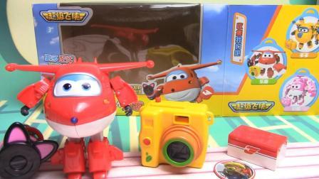 桐话时光超级飞侠玩具 豪华变形机器人乐迪玩具