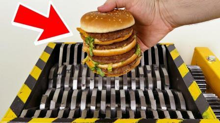 将汉堡包放进粉碎机会怎样? 还能吃吗? 一起来见识下!