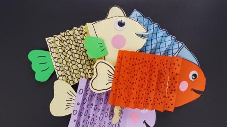 五分钟亲子折纸手工: A4彩色纸做成色彩斑斓的小丑鱼尼莫