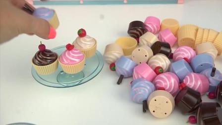 一起来布置一家甜品店吧, 有美味的冰激凌, 披萨和纸杯蛋糕