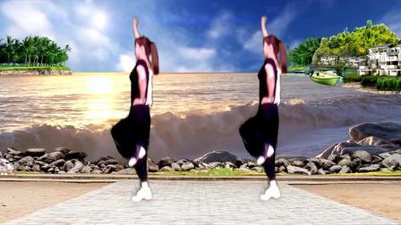 经典老歌健身广场舞《踏浪》舞步欢快轻盈, 好听又好看!
