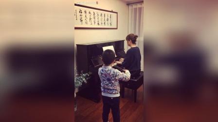 钢琴和小提琴合奏《告诉罗娣阿姨》
