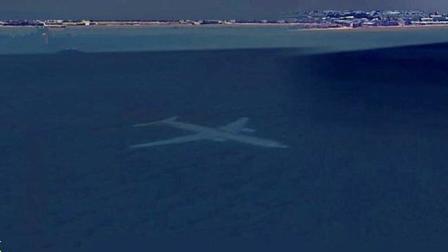 神秘事件: 谷歌地图上被发现苏格兰海岸有一架完整大型客机在水下