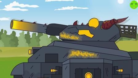 坦克世界搞笑动画-最强战神一发怒, 直接秒杀对手! 战力惊人!