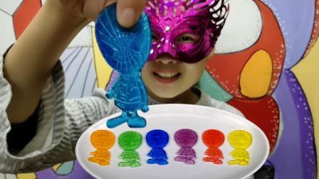 妹子试吃蜘蛛侠果冻, 超级英雄变身萌侠, 大脑袋小身体Q弹润滑