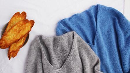 【桃之夭夭】从后领口开始往下织的宽松毛衣棒针编织视频教程