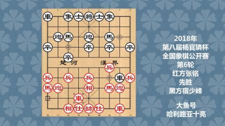 2018年第八届杨官璘杯全国象棋公开赛第6轮, 张铭先胜宿少峰