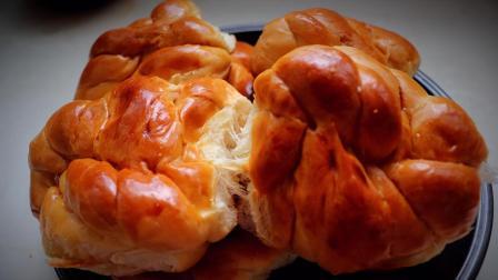 老式面包做法, 经典味道, 柔软拉丝, 教程详细, 看了你也会做!