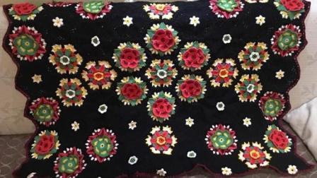 【金贝贝手工坊208辑】M138弗里达花样毯子(二)毛线钩针编织空调毯宝宝毯儿童盖毯毛毯编织方法图