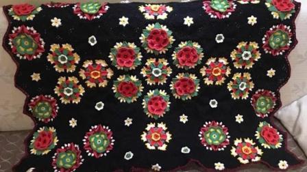 【金贝贝手工坊 209辑】M138弗里达花样毯子(三) 毛线钩针编织空调毯宝宝毯儿童盖毯毛毯