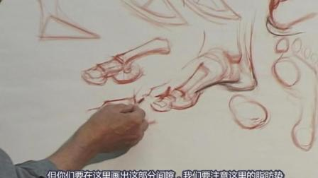 10.Glenn Vilppu 经典[脚部解剖素描].Feet精细素描教学视频, 中文字幕版!