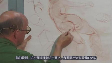12.Glenn Vilppu 经典[人体结构基本绘画步骤].Basic精细素描教学视频, 中文字幕版!