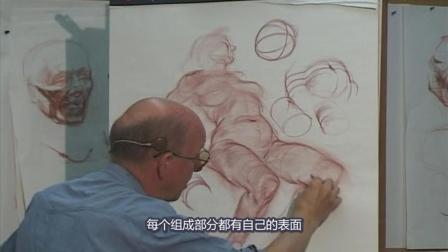 18.Glenn Vilppu 经典[人体圆柱形构成素描].Cylindrical.Forms精细示范, 中文字幕版!