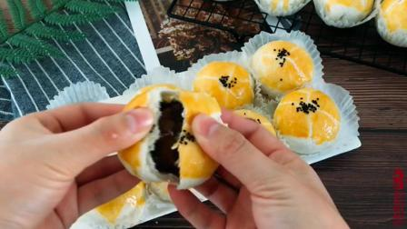 蓓蓓的厨房丨纯手工美食教学: 美味蛋黄酥, 送给朋友吃特有面子, 好吃又实惠