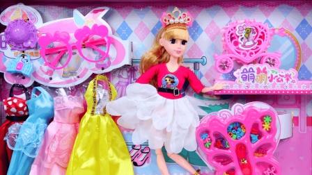 芭比娃娃莎莉公主穿衣打扮制作串珠项链玩具