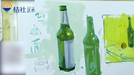 桔社艺术出品 色彩啤酒瓶单体
