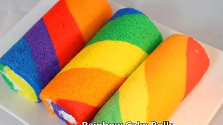 这么好看又好吃的彩虹蛋糕, 做给男朋友或者女朋友吃吧, 甜蜜又幸福