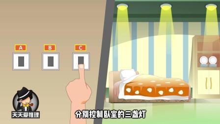 悬疑推理动画: 3个开关分别控制3盏灯, 如何区分对应的灯, 难倒众人?