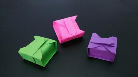一张纸教你折纸蛋糕包装盒, 简单漂亮用途又广, 手工折纸大全视频